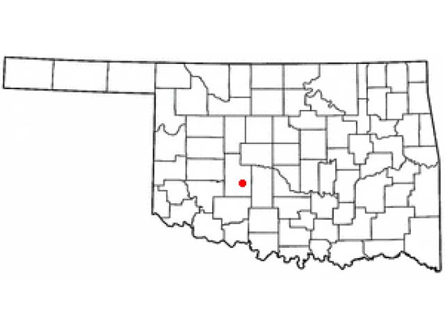 Anadarko location map