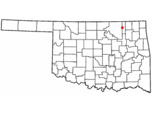 Bartlesville locator map