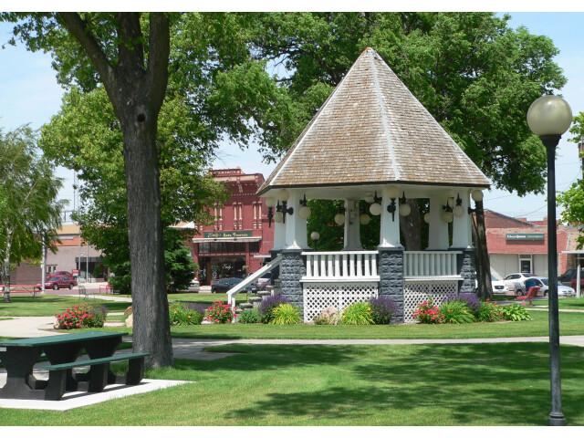 Broken Bow  Nebraska bandstand from E image