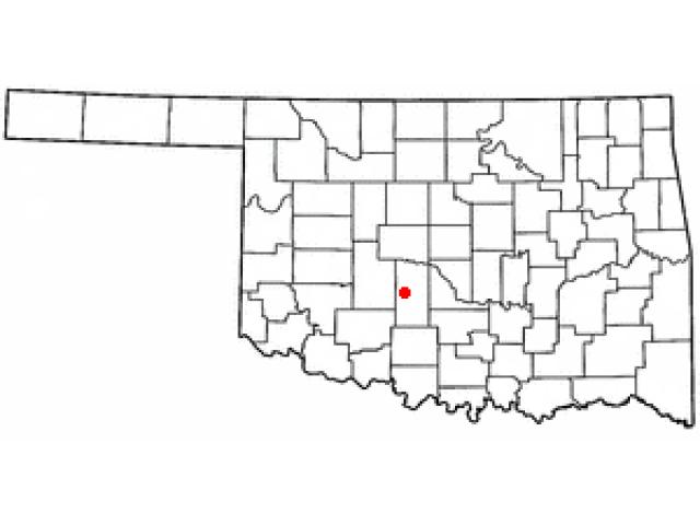 Chickasha locator map