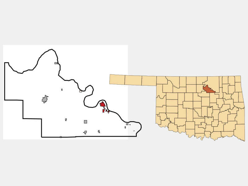 Cleveland locator map