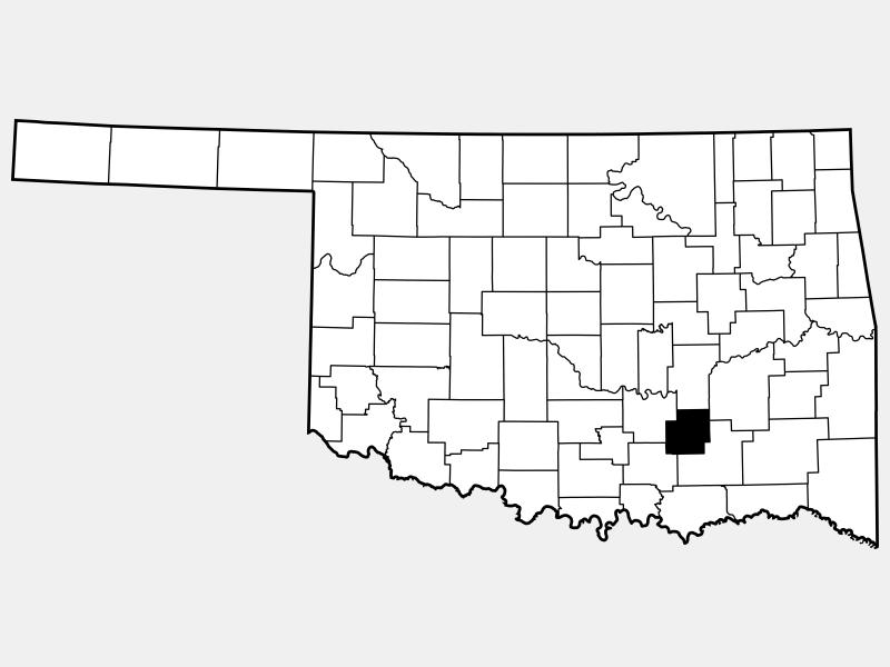 Coal County locator map