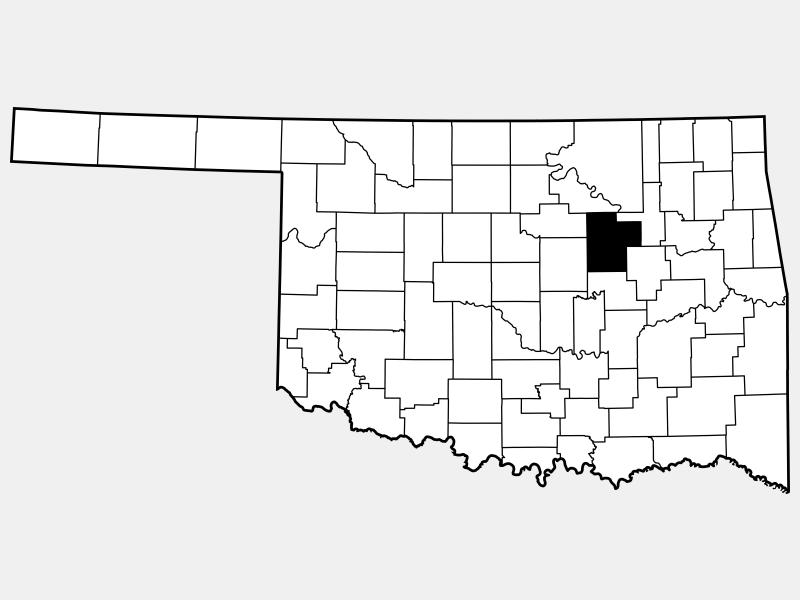 Creek County locator map
