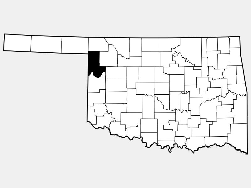 Ellis County locator map