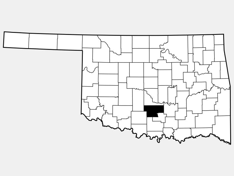 Garvin County locator map