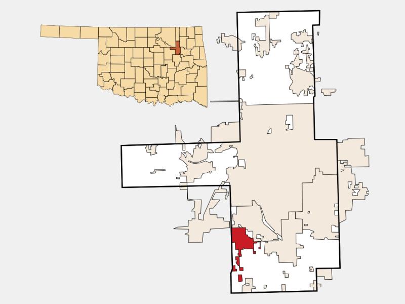 Glenpool location map