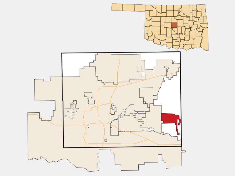 Harrah location map