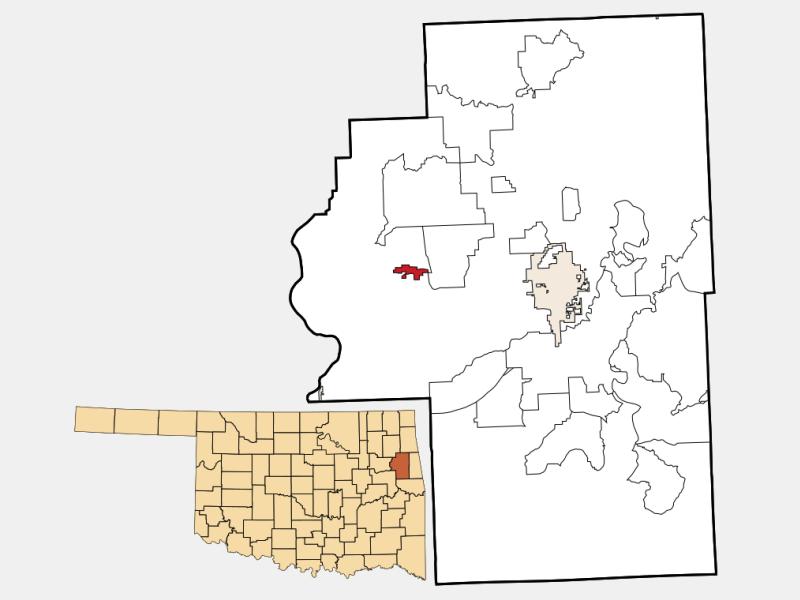 Hulbert locator map