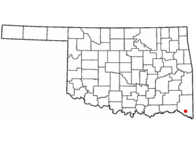Idabel locator map