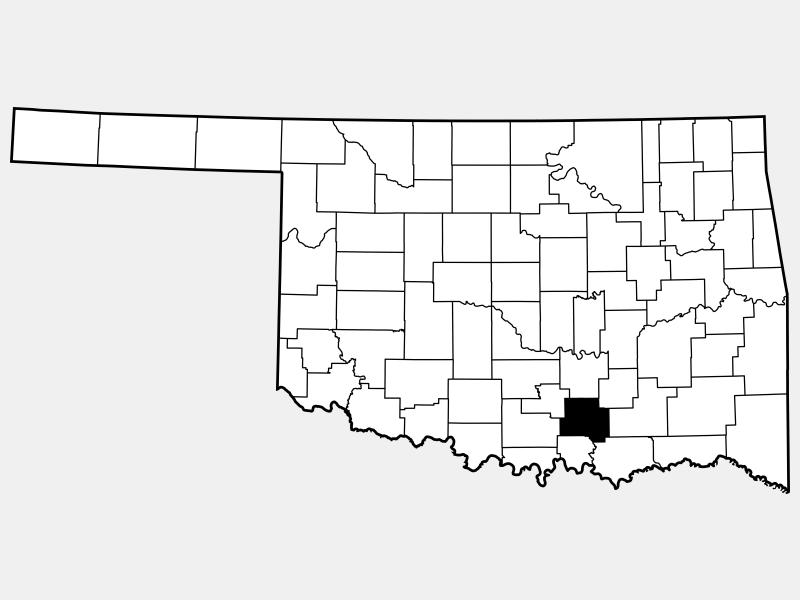 Johnston County locator map