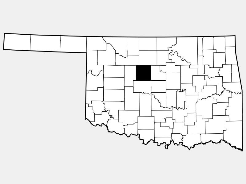 Kingfisher County locator map