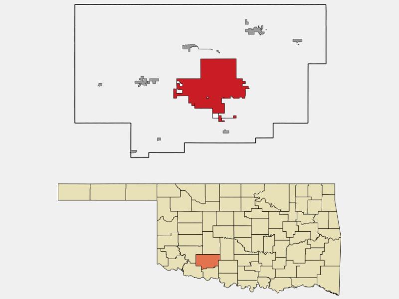 Lawton locator map