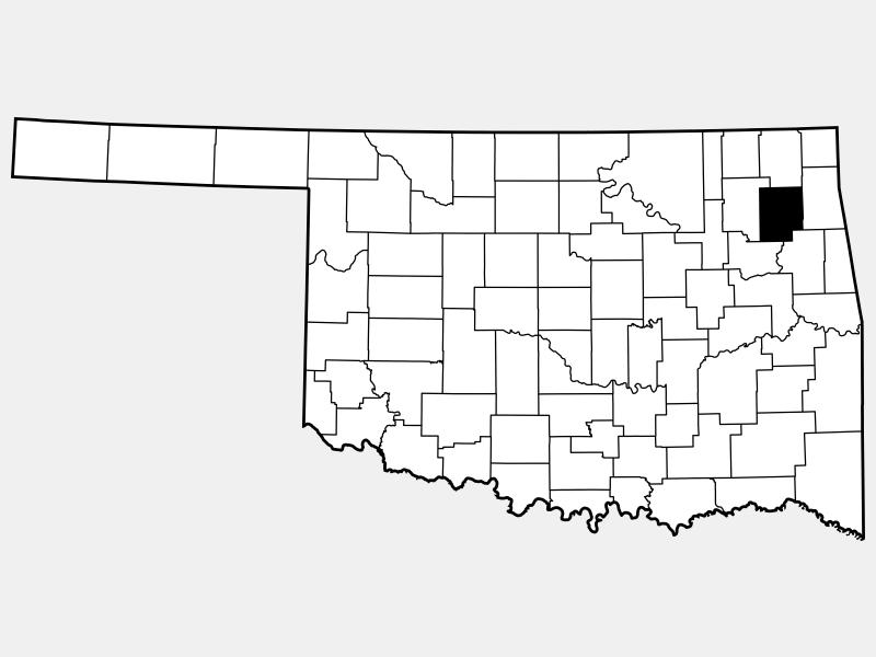 Mayes County locator map