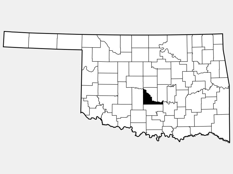 McClain County locator map