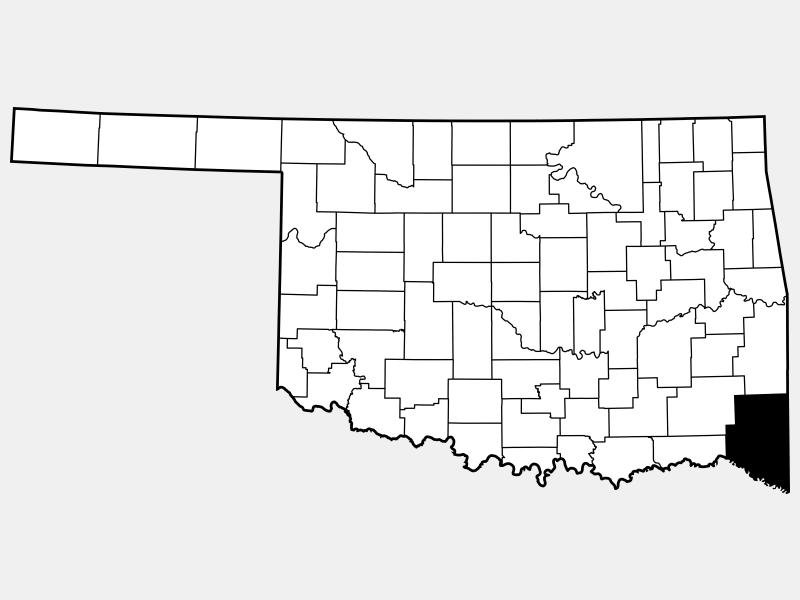 McCurtain County locator map