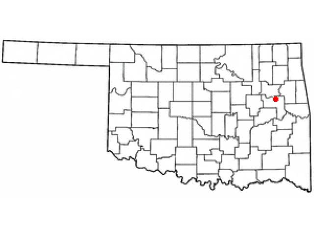 Muskogee locator map