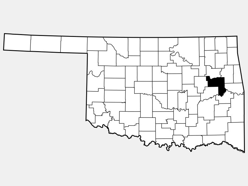 Muskogee County locator map