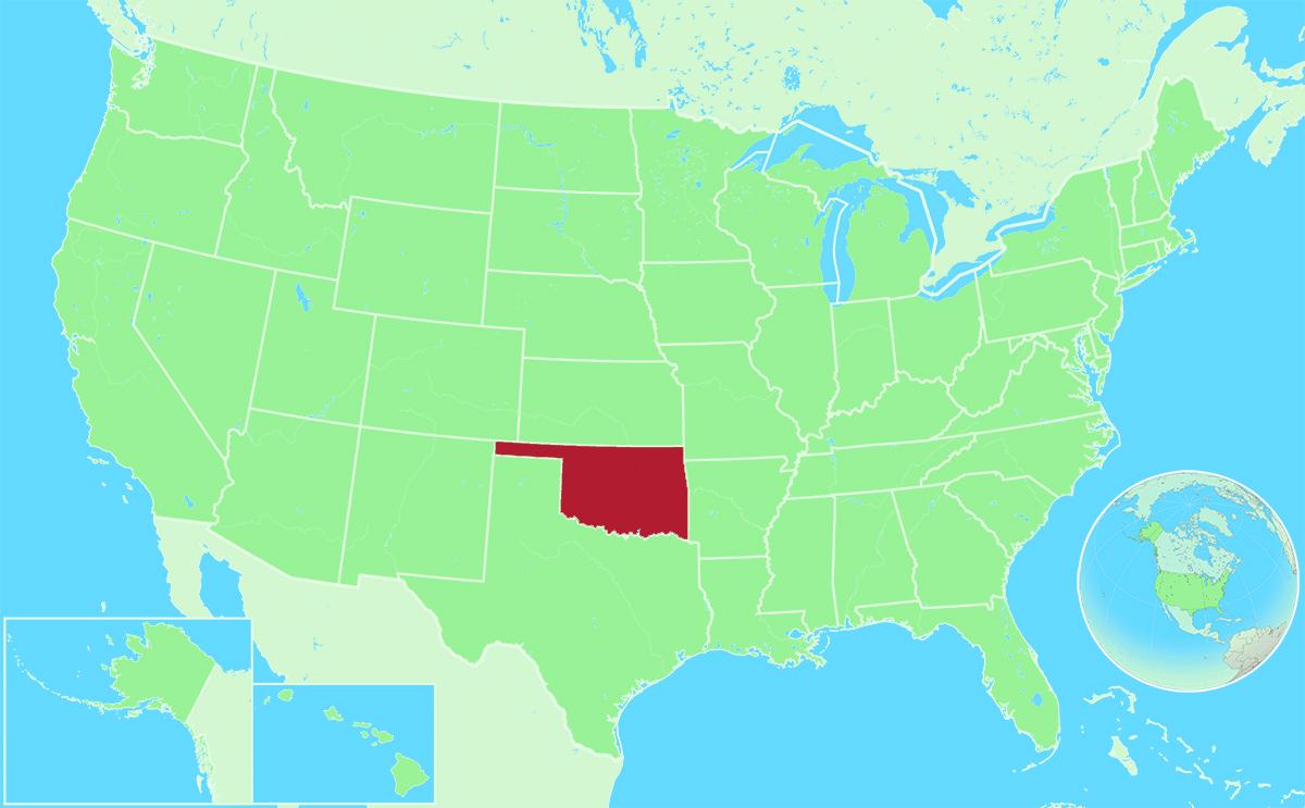 Oklahoma locator map