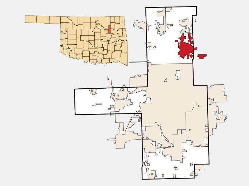 Owasso locator map
