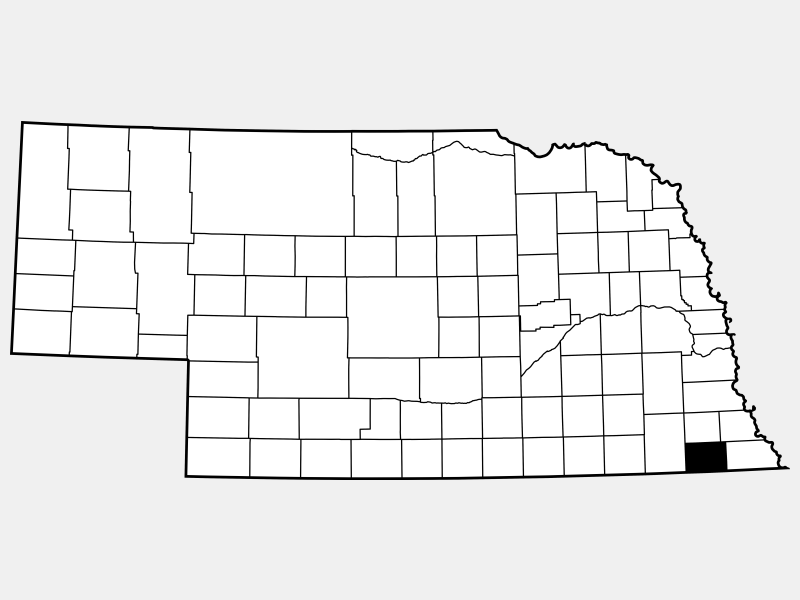 Pawnee County locator map