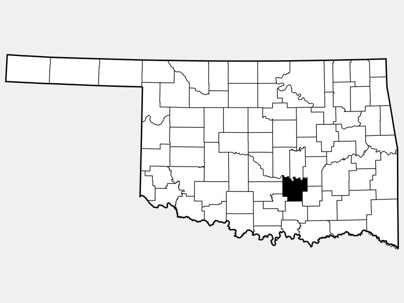 Pontotoc County locator map