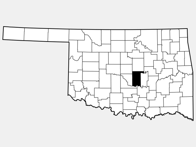 Pottawatomie County locator map