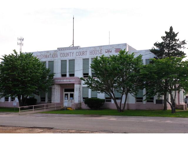 Pushmataha county ok courthouse image