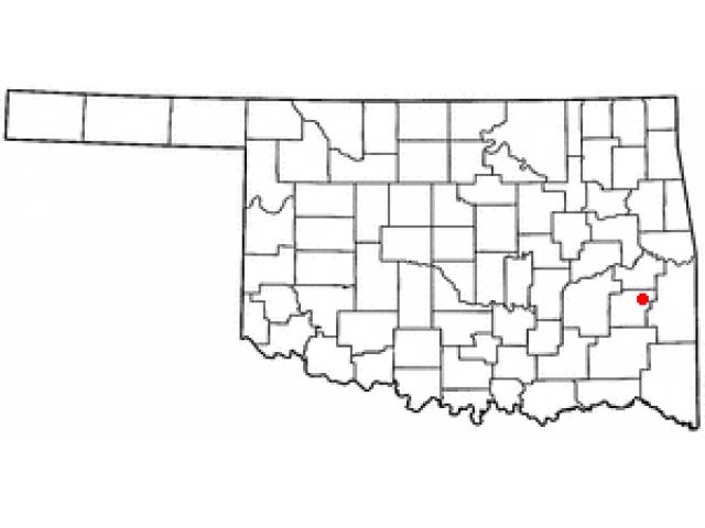 Red Oak locator map