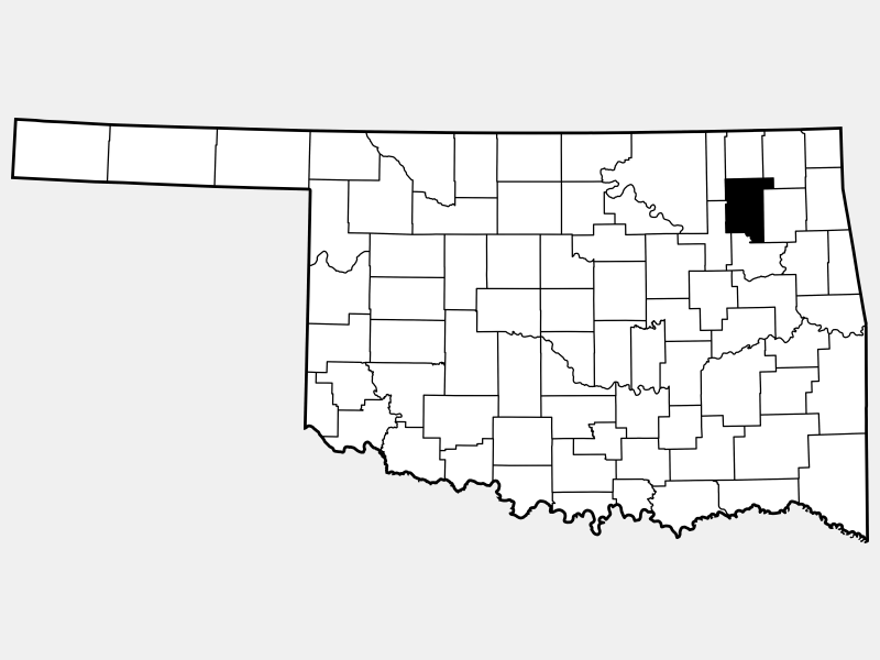 Rogers County locator map