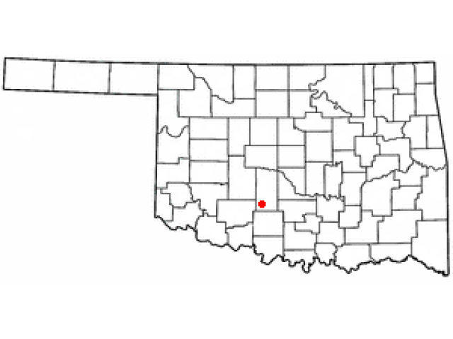 Rush Springs locator map