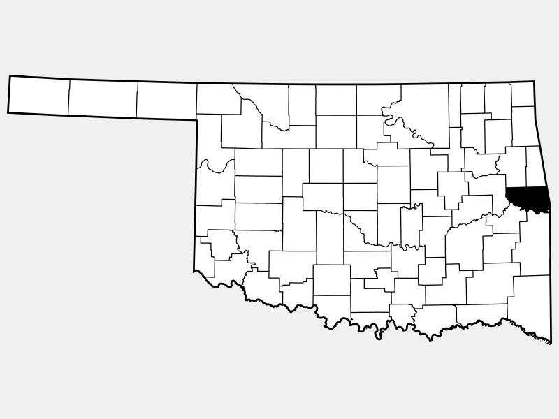 Sequoyah County locator map