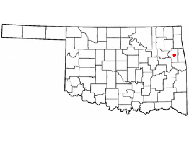 Tahlequah locator map