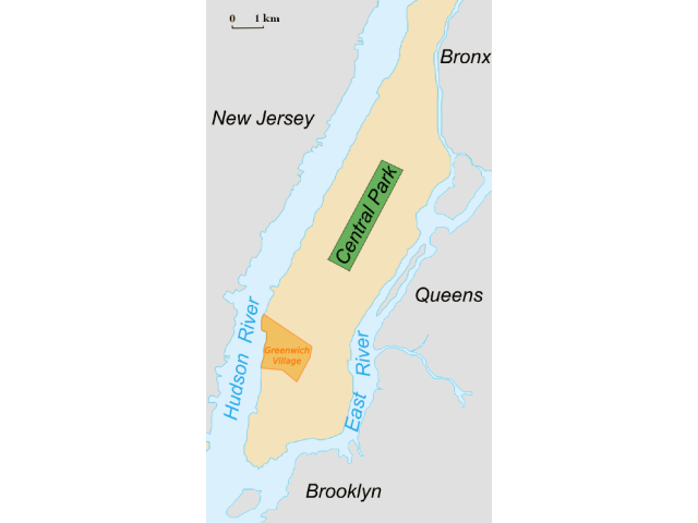 The Village location map