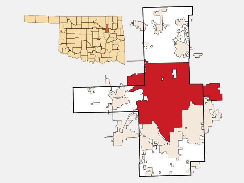 Tulsa locator map