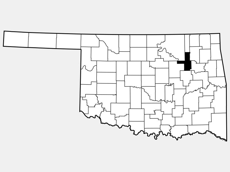 Tulsa County locator map