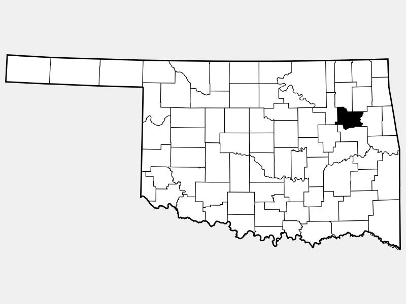 Wagoner County locator map