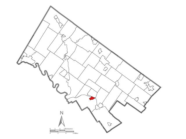 Bridgeport location map