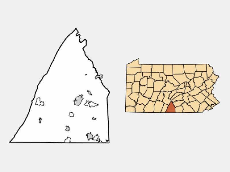 Chambersburg locator map