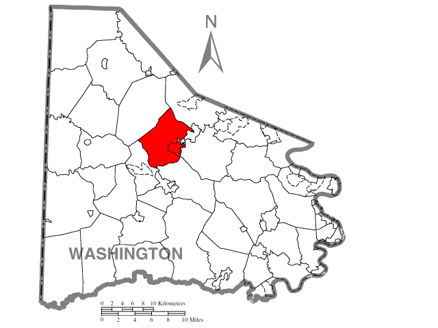 Chartiers locator map