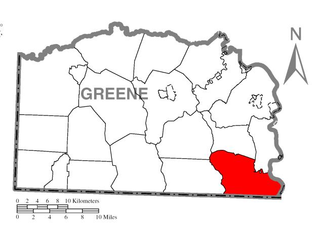 Dunkard locator map