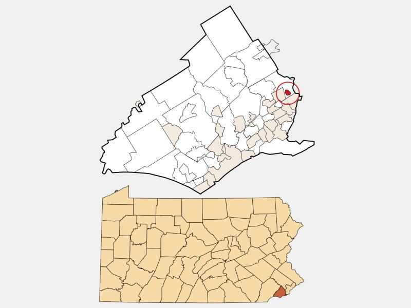 East Lansdowne locator map