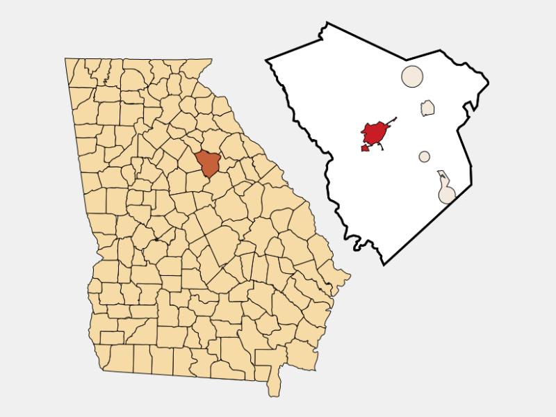 Greensboro locator map