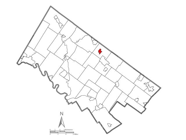 Hatfield locator map