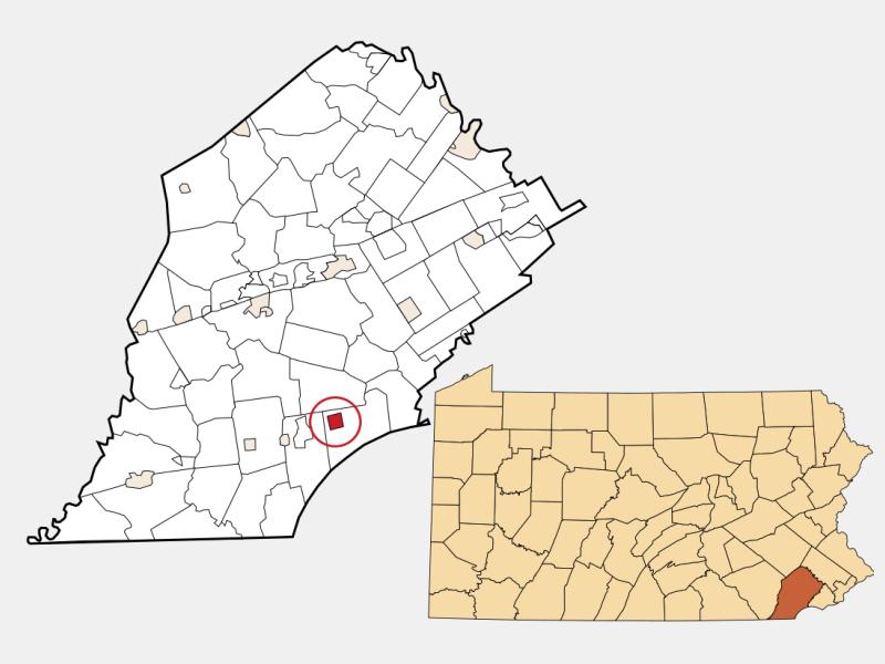 Kennett Square locator map