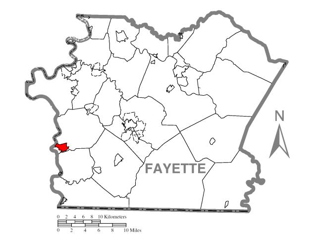 Masontown locator map