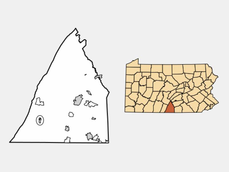 Mercersburg locator map