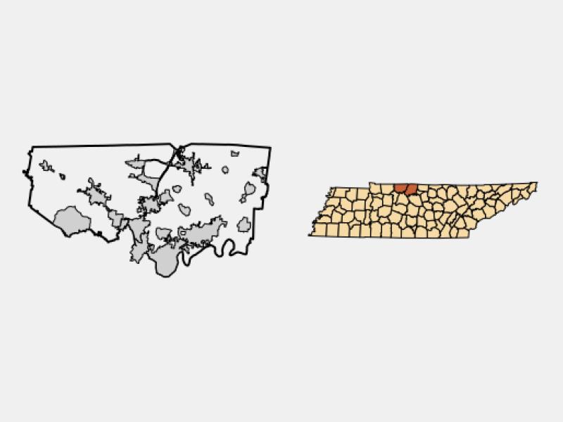 Millersville locator map