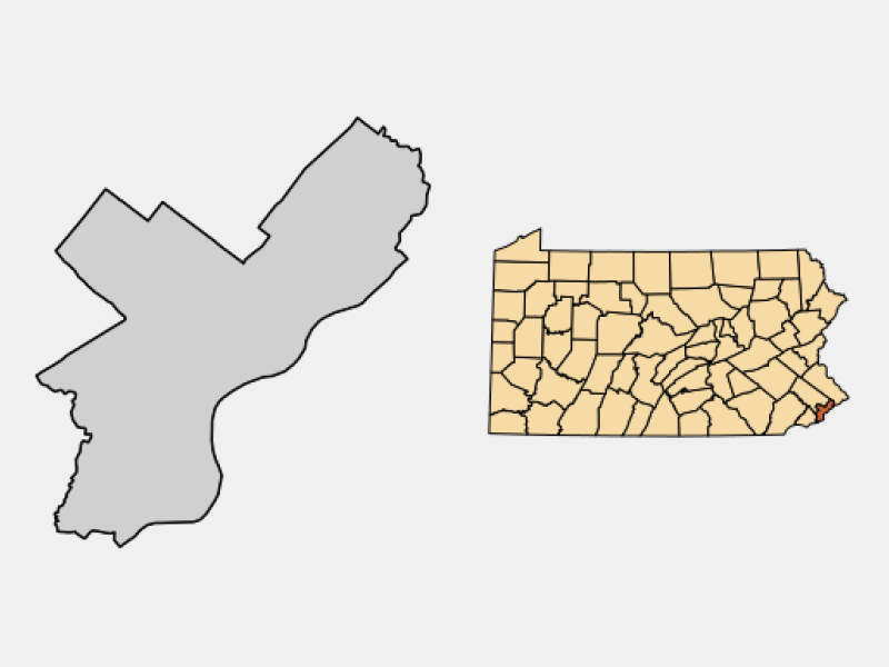 Philadelphia locator map