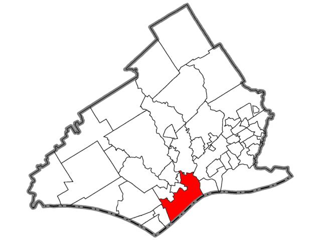 Upland locator map