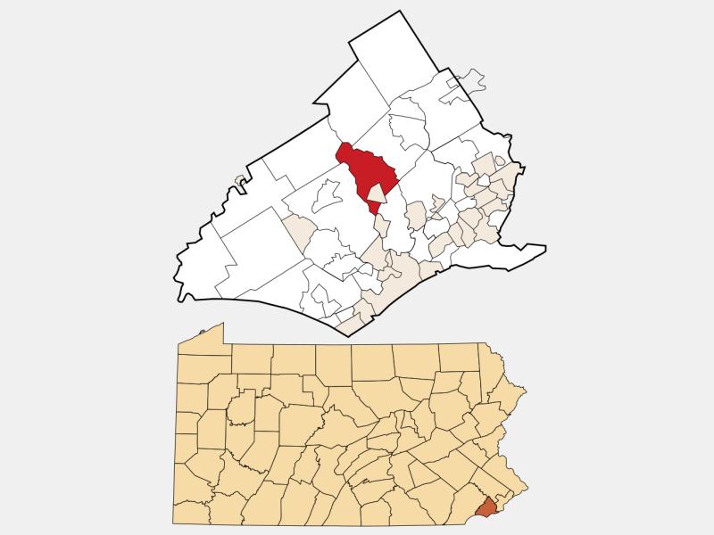 Upper Providence locator map